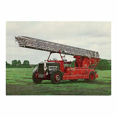 Turntable Ladder Appliance 1936 - Fire Fighting & Rescue Science Museum Postcard