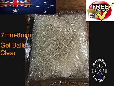 10,000 7 - 8mm Gel Ball Ammo Crystal Water Bead Water Gell Toy Blaster Hardened