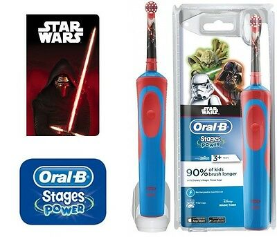 Oral-B Vitality Stages Power Electric Rechargeable Toothbrush Star Wars Kids 3+
