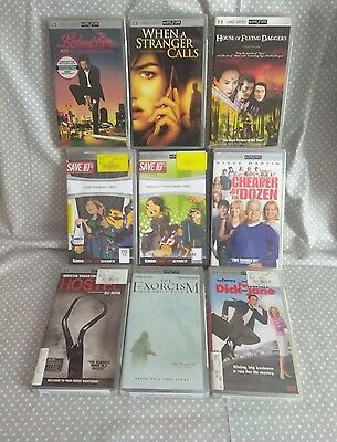 Lot of 9 Sony PSP UMD Movies