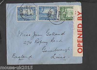 ADEN 1940 CENSORED No7 COVER TO UK.