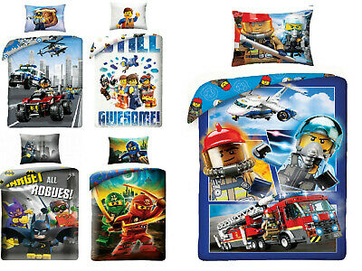 LEGO NINJAGO CITY SUPER HEROES NEXO KNIGHTS Friends Kinderbettwäsche BATMAN
