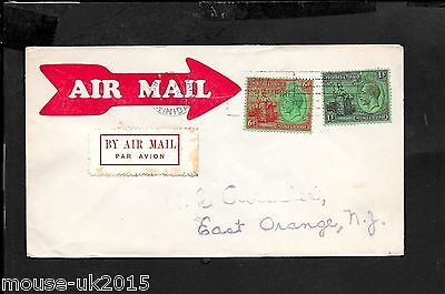 Trindad Flight Cover 1/6 Rate To Usa (Sept 25 1929)