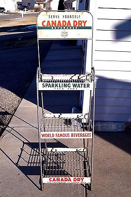 1930s 40s Canada Dry Cola Soda 2 Sided Store Display Advertising Rack Sign