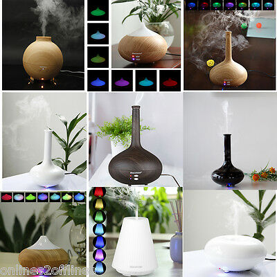 100-500ML LED Essential Oil  Ultrasonic Humidifier Aroma Diffuser Air Purifier