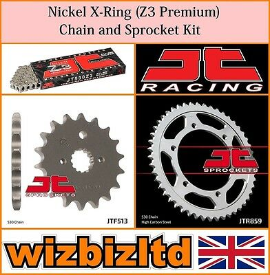 JT Nickel X-Ring Chain & Sprocket Kit Yamaha FZS600 Fazer 1998-03 KITJT37CT