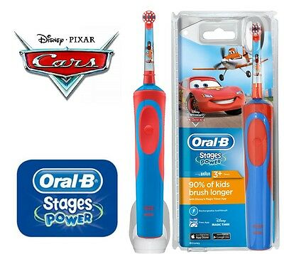 Oral-B Vitality Stages Power Electric Rechargeable Toothbrush Cars For Kids 3+