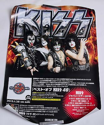 KISS Poster Best Of KISS 40 Japan Tour 2015 Promo HTF from Japan