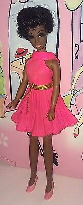 Vintage Topper Dawn Doll Dale Wearing Pleated Pink Mini