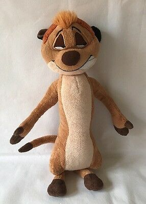 Disney Store Exclusive Timon Meercat Plush Soft Toy From The Lion King, 16""
