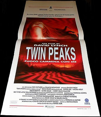 1992 Twin Peaks: Fire Walk with Me ORIGINAL ITALIAN POSTER David Lynch