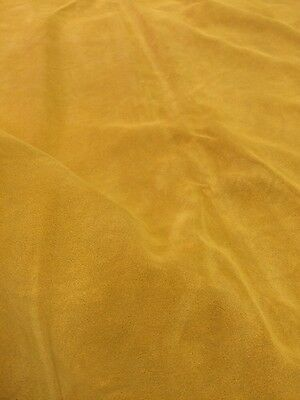 17 Sq Ft Quality Genuine Golden Suede Skin / Hide, Genuine Leather