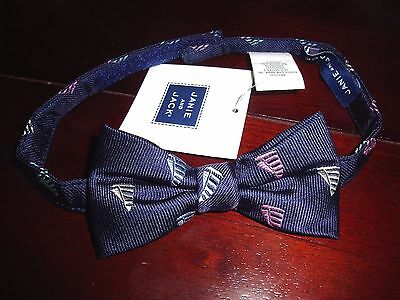 NWT Janie and Jack Navy SAILBOAT Bow Tie Up to 3 2T 3T Spring Church Wedding