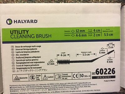 60226 (Box of 50) Halyard Utility Cleaning Brush (NEW)