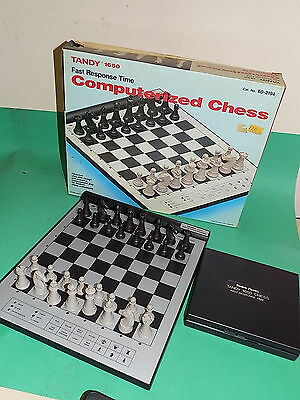 TANDY 1650 Electronic Chess computer boxed Fast Response Time Garry Kasparov