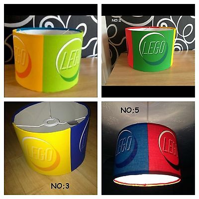 Lego Bricks Drum Ceiling Lampshade Lightshade Bedroom Bright Boy Girl
