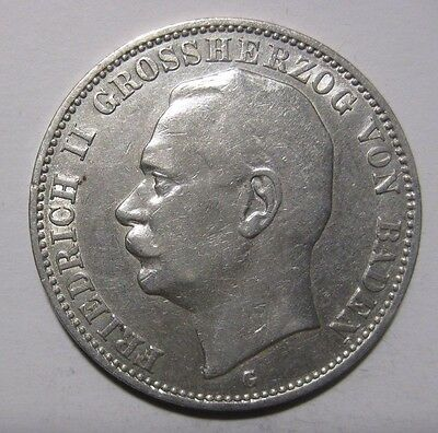 1910G - 3 Mark  Silver Coin from Germany/Baden
