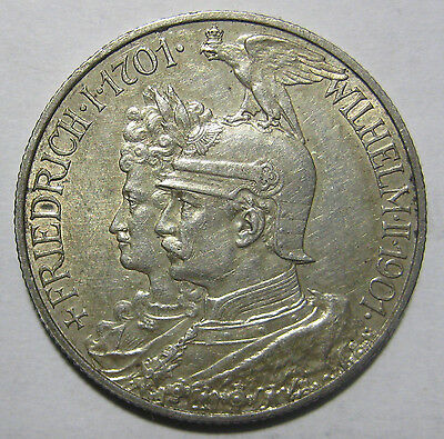 1901- Germany/Prussia- 2 Mark  Silver Coin