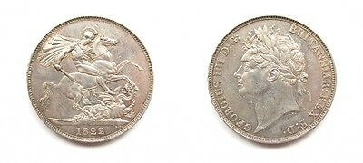 George Iv 1822 Silver Crown - Tertio Edge - High Grade