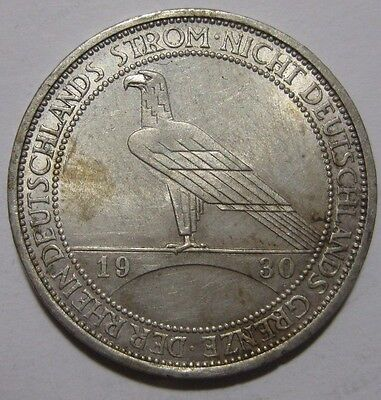 1930A - Germany - 3 Mark Genuine Silver Coin  - Liberation of Rhineland