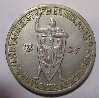 1925A - Germany - 3 Mark Genuine Silver Coin