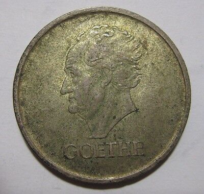 1932A - Germany - 3 Mark Genuine Silver Coin  - Death of Goethe