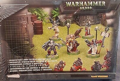 Warhammer 40000 40K - INQUISITOR LORD COTEAZ AND RETINUE METAL - GAMES WORKSHOP
