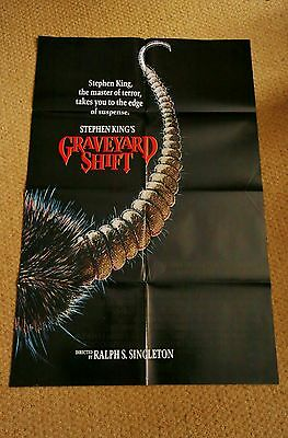 GRAVEYARD SHIFT Original Vintage HORROR Movie Poster BRAD DOURIF STEPHEN KING