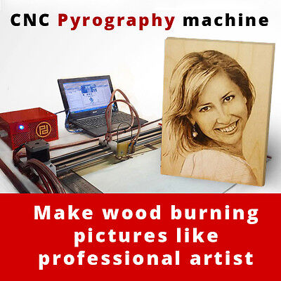 CNC Wood Burner Kit Machine - Make pyrography pictures from photo like Artist!