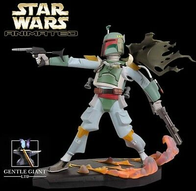 Gentle Giant BOBA FETT Star Wars Animated Statue Limited Edition 7000 NIB