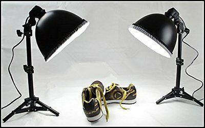 Mini Studio Continuous Lighting Kit with 2x45W 5500K Bulbs 0.7M Light Stand