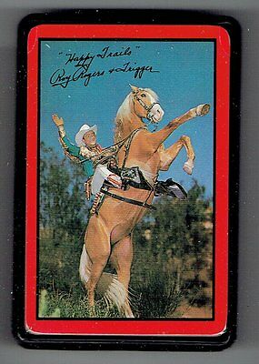Roy Rogers deck of playing cards factory sealed w/hard plastic case - Excellent