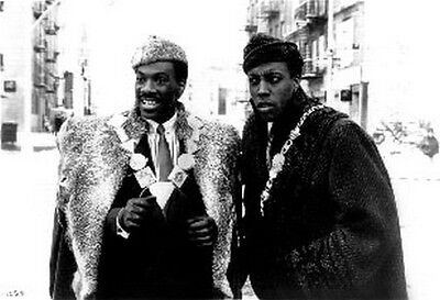 Coming To America Two Men in Fur Coat High Quality Photo