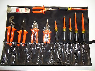 9 Piece Set Basic Electrician Insulated Tool Kit & 3 Piece Bonus