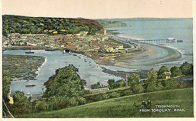 postcard Devon  Teignmouth from Torquay Road posted 1919