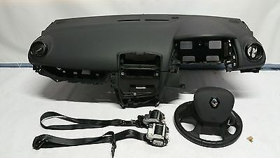 Renault Clio 2016 Airbag Kit Driver Passenger Dashboard Seatbelts Fitting