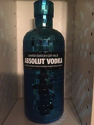 750 Absolut Vodka BLUE DISCO (empty) No bottle, No alcohol
