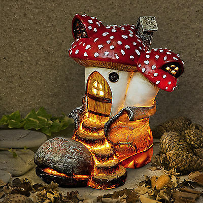 New Garden Glow - Solar Fairy House- Toadstool Boot Cottage- Home of Ambrosia
