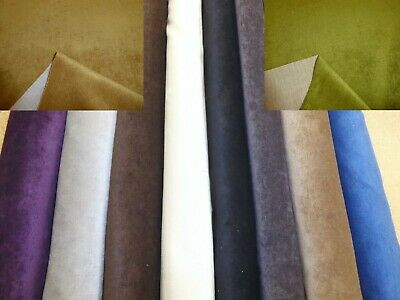 Plain Velvet Style Upholstery & Curtain Fabric (9 Colours)
