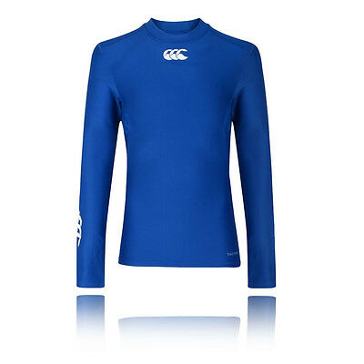 Canterbury Thermoreg Junior Blue Crew Neck Long Sleeve Baselayer Training Top