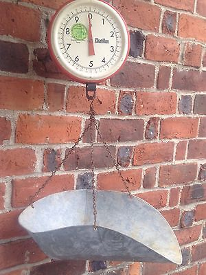 Vintage Chatillon 2 - Sided (Sunburst) Hanging Produce Scale w/ Basket