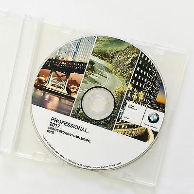 BMW ROAD MAP EUROPE PROFESSIONAL 2017 DVD Aggiornamento Mappe Europa