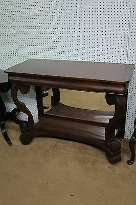 Antique Mahogany Empire Console