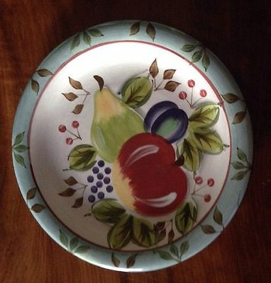 "8 New Heritage Mint Black Forest Fruits 10.5"" Dinner Plates"