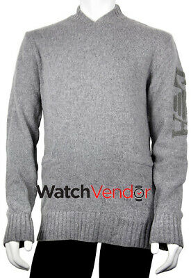 Emporio Armani Ribbed Grey Terry Sweater - Large