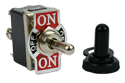 TEMCo 20A 125V ON-OFF-(ON) DPDT 6 Terminal Toggle Switch Momentary With Boot