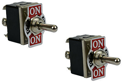 2 pc TEMCo 20A 125V (ON)-OFF-(ON) DPDT 6 Terminal Toggle Switch Momentary