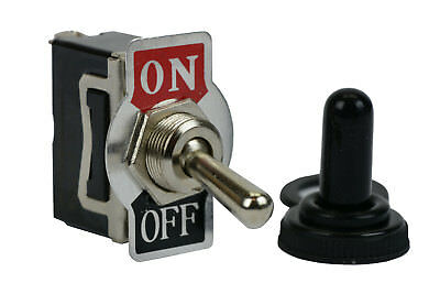 TEMCo Heavy Duty 20A 125V ON-OFF SPST 2 Terminal Toggle Switch Waterproof Boot