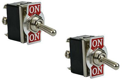 2 pc TEMCo Heavy Duty 20A 125V ON-ON DPDT 6 Terminal Toggle Switch