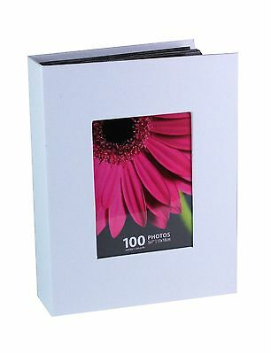 "Kiera Grace Photo Album Holds 100 5-Inch by7-Inch Photos White 100-5x7"" photos"